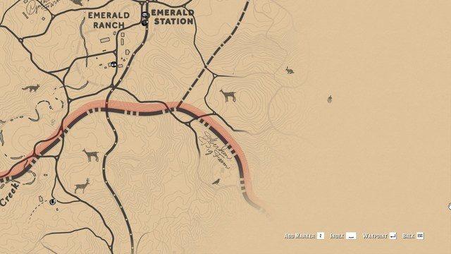 RDR2 Aberdeen Farm Location Map