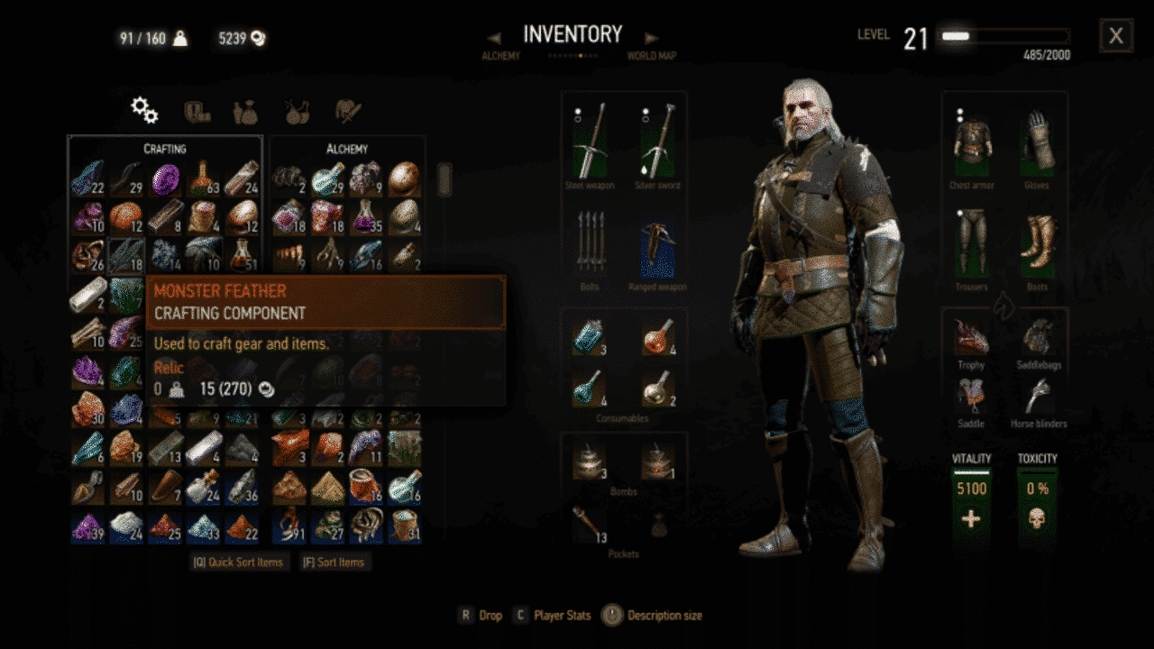 Witcher 3 Monster Feather