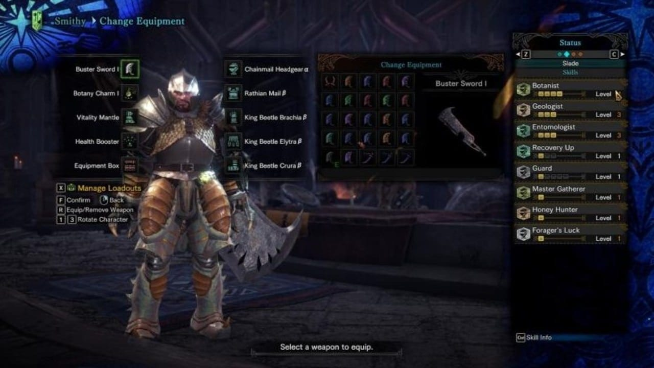 MHW Gathering Sets