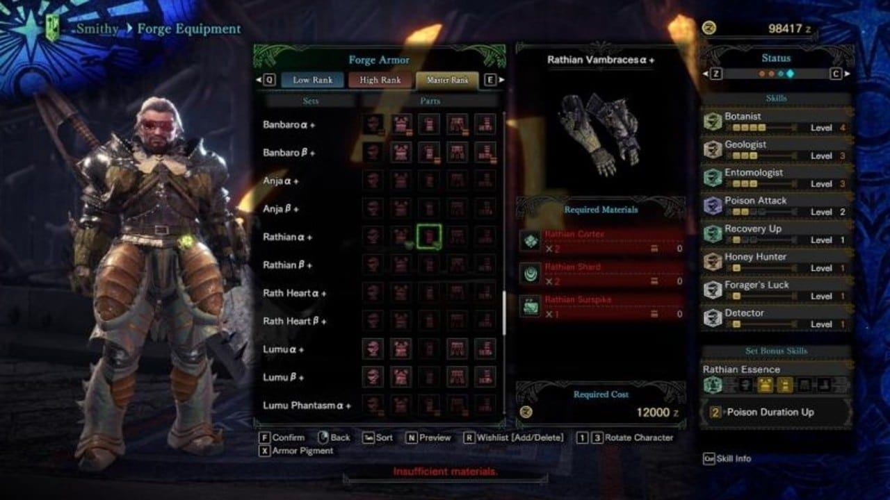 MHW Best Gathering Sets